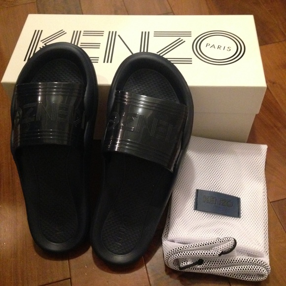 166f985a Kenzo Shoes | Paris Navy Pool Slides Slipper Sandal 37 | Poshmark